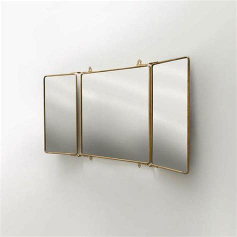 Tri Fold Bathroom Wall Mirror by Three S Company Industrial Chic Trifold Mirrors In 2019