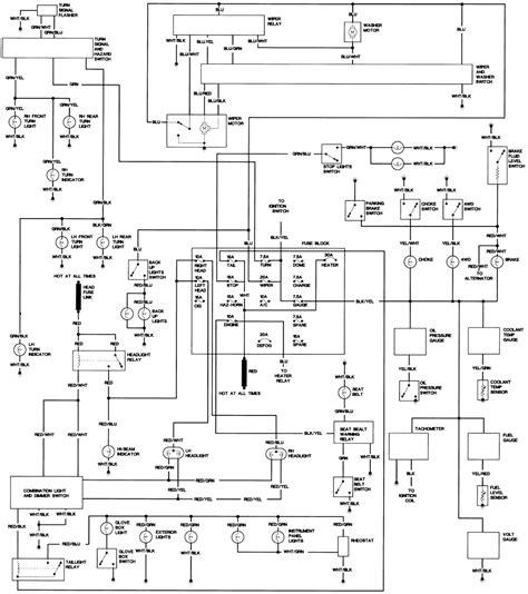 1984 Toyotum Diesel Wiring Diagram by Repair Guides