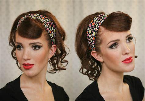 1950s Headband Hairstyle by 14 Glamorous Retro Hairstyle Tutorials Pretty Designs