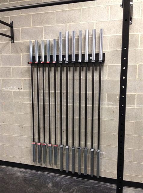bar vertical barbell storage rack wall mounted olympic bar holder icbarhorz