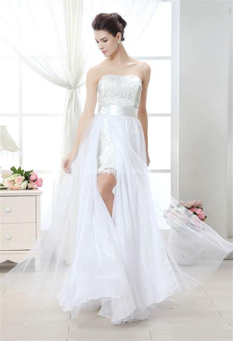 robe de mariée voilée robe de mari 233 e courte et moderne avec volant
