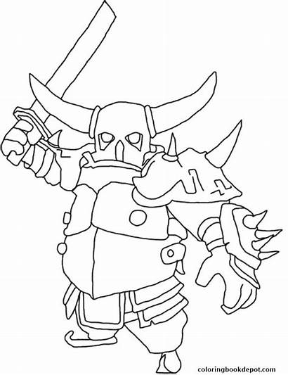 Clash Coloring Pages Royale Pekka Getcolorings Printable