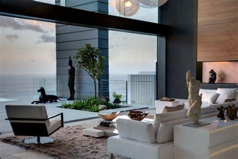 White sofa modern chair sea view home