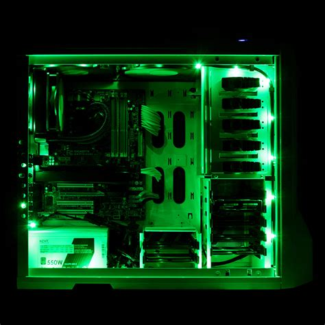 nzxt 2 meter sleeved computer led light kit