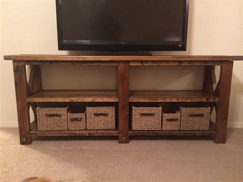Ana White Rustic X Tv Console Table Diy Projects
