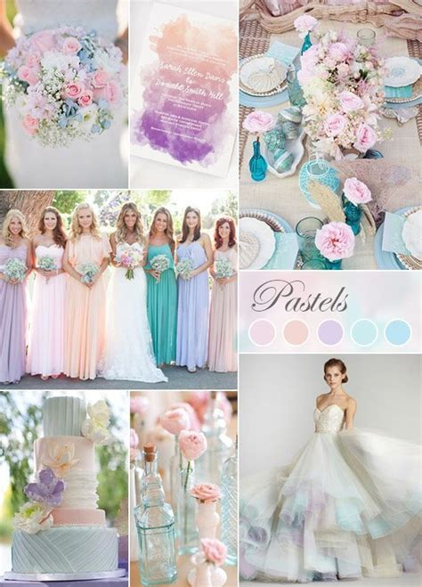 pastel wedding colors a soft mix of pink purple and yellow hues inspires
