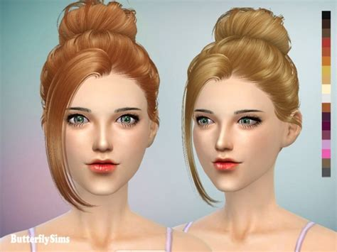 Update Hair Style 2019 : B-flysims Hair Af060 2 (pay) At Butterfly Sims » Sims 4