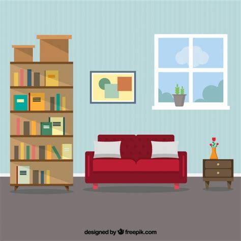 sofa vetorizado living room interior vector premium download
