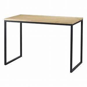 Bureau Bois Metal : table bureau bois et m tal 110 cm city mooviin ~ Teatrodelosmanantiales.com Idées de Décoration