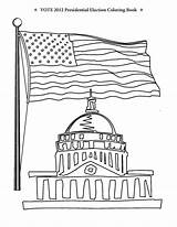 Coloring Election Pages Congress Vote Building Presidential Flag Printable Romney Obama Washington Dc Usa Getcoloringpages Kindergarten Archive Podium sketch template