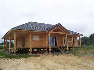 maison en bois sur pilotis With maison en bois sur pilotis