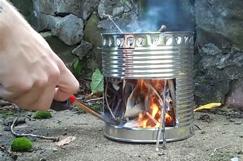 How To Make A Simple Tin Can Stove