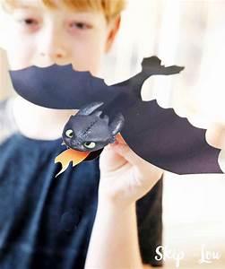 Printable Toothless Dragon Craft