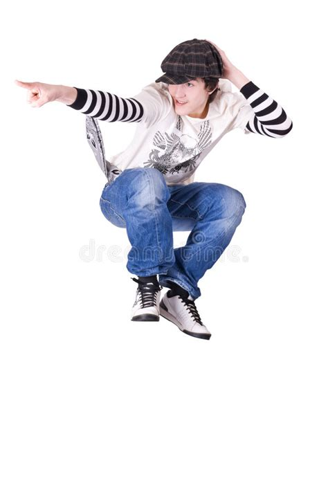 teenage boy jumping  dancing locking dance royalty  stock images image