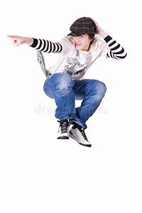 Teenage Boy Jumping And Dancing Locking Dance Royalty Free ...