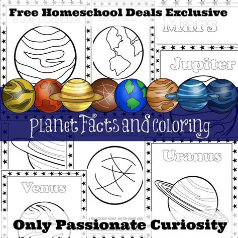 planet facts  coloring pages instant