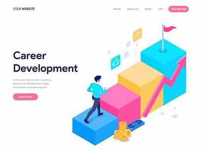Career Development Vector Landing Concept Web Banner