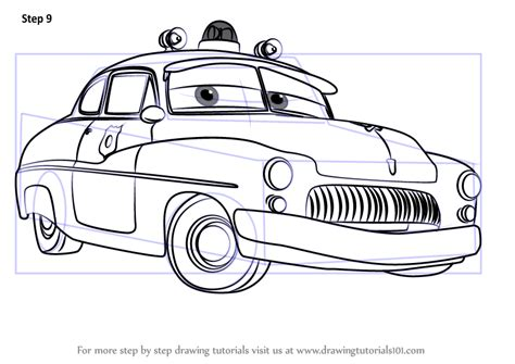 cars characters drawings learn how to draw sheriff from cars 3 cars 3 step by