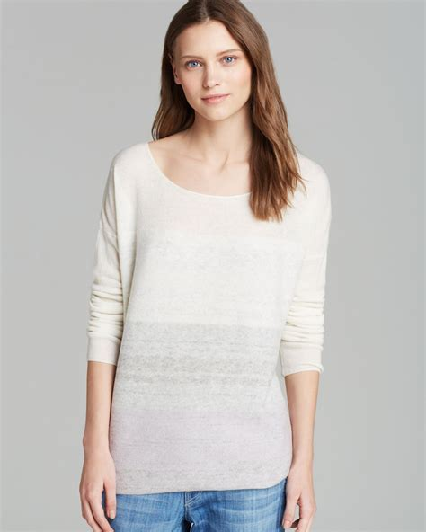 vince sweater ombre cashmere  natural lyst