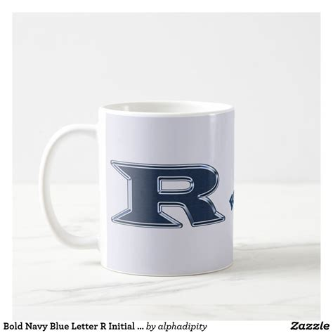 Check out our handleless mug selection for the very best in unique or custom, handmade pieces from our drinkware shops. Bold Navy Blue Letter R Initial Monogram Coffee Mug   Zazzle.com   Monogram coffee mug, Monogram ...