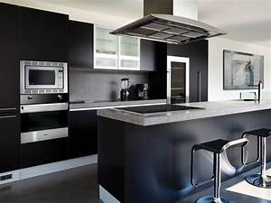 Pictures of kitchens modern black kitchen cabinets for Modern kitchen cabinets black