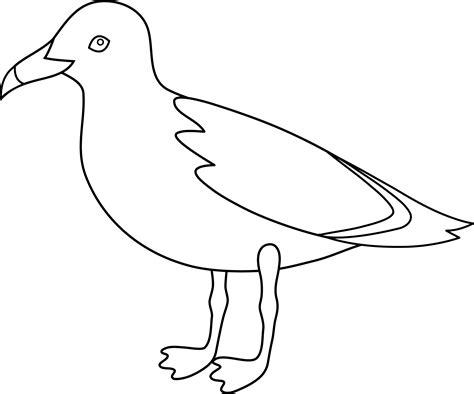 Seagull Line Art Free Clip Art
