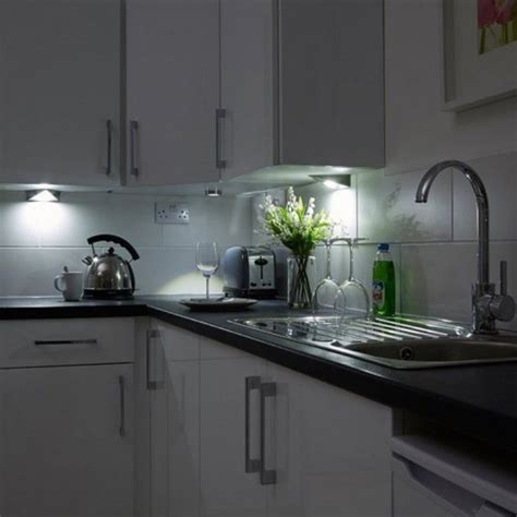 kitchen  cabinet triangle led light  cool white