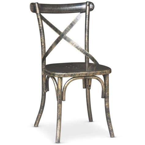 chaise en metal chaise en métal angie bronze achat vente chaise salle a