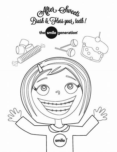 Coloring Dental Month Pages Smile Health Children