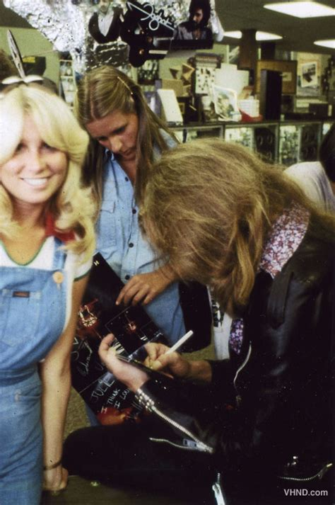 Halen News Desk 2011 by Unearthed Photos Halen 1978 In Store Appearance