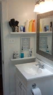 storage idea for small bathroom small bathroom storage idea by the sink shelving home decoz