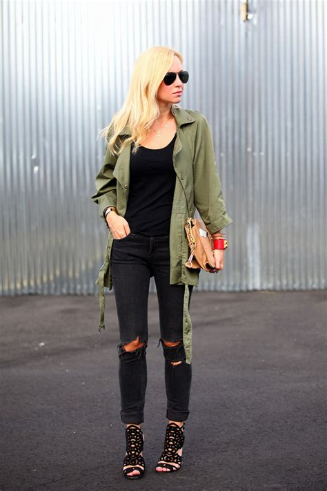 army green jacket styling