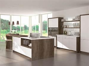 Moderne Küche Mit Kochinsel Holz : k che mit kochinsel und k chenbar ~ Bigdaddyawards.com Haus und Dekorationen