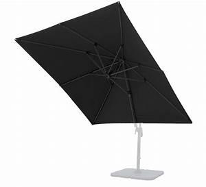 Toile Pour Parasol Déporté : toile de parasol d port salond t noir 3x3 m 54 salon d 39 t ~ Teatrodelosmanantiales.com Idées de Décoration