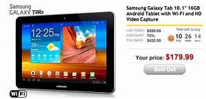16gb Samsung Galaxy Tab 10 1 On Sale For  179 99 Through