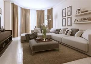 Deco Salon Moderne : d co salon beige ~ Teatrodelosmanantiales.com Idées de Décoration