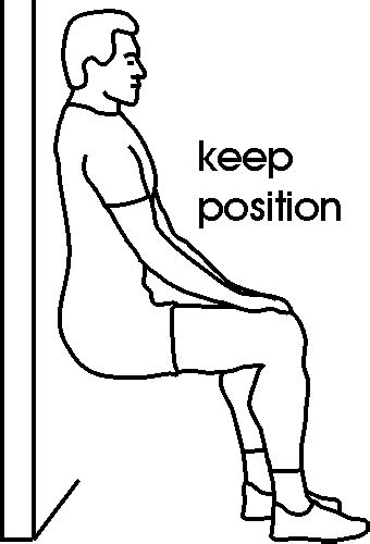 la chaise musculation wall sit