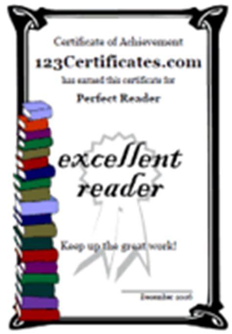 printable reading certificates reading awards  kids