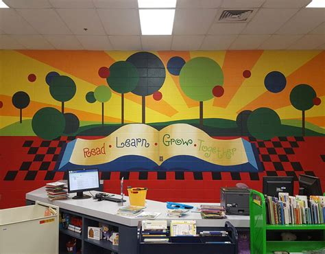 school library sar wall decors