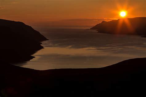 Sol Da Meia Noite E Noite Absoluta!  Mundo Por Terra