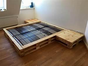 Pallet Platform Bed With Nightstands Pallet Furniture DIY