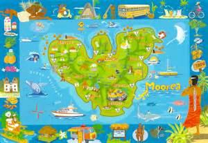 Moorea French Polynesia Map