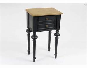 table de nuit noire cerusee meuble de chambre amadeus With table de chevet noire