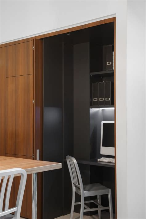 small contemporary kitchen  room  home office