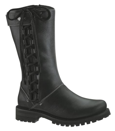ladies harley riding boots 85054 harley davidson womens melia black high cut
