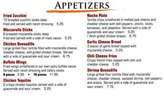 Italian Appetizer Menu