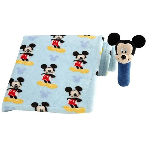 disney baby mickey mouse baby blanket with stick rattle baby baby disney baby mickey