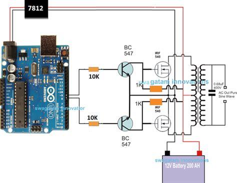 arduino sine wave inverter circuit