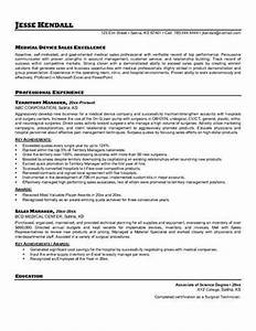 medical device sales representative resume sample With medical device sales resume writer