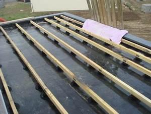 Pose Terrasse Composite Sur Dalle Beton : terrasse bois exemples de structures les guides ~ Carolinahurricanesstore.com Idées de Décoration